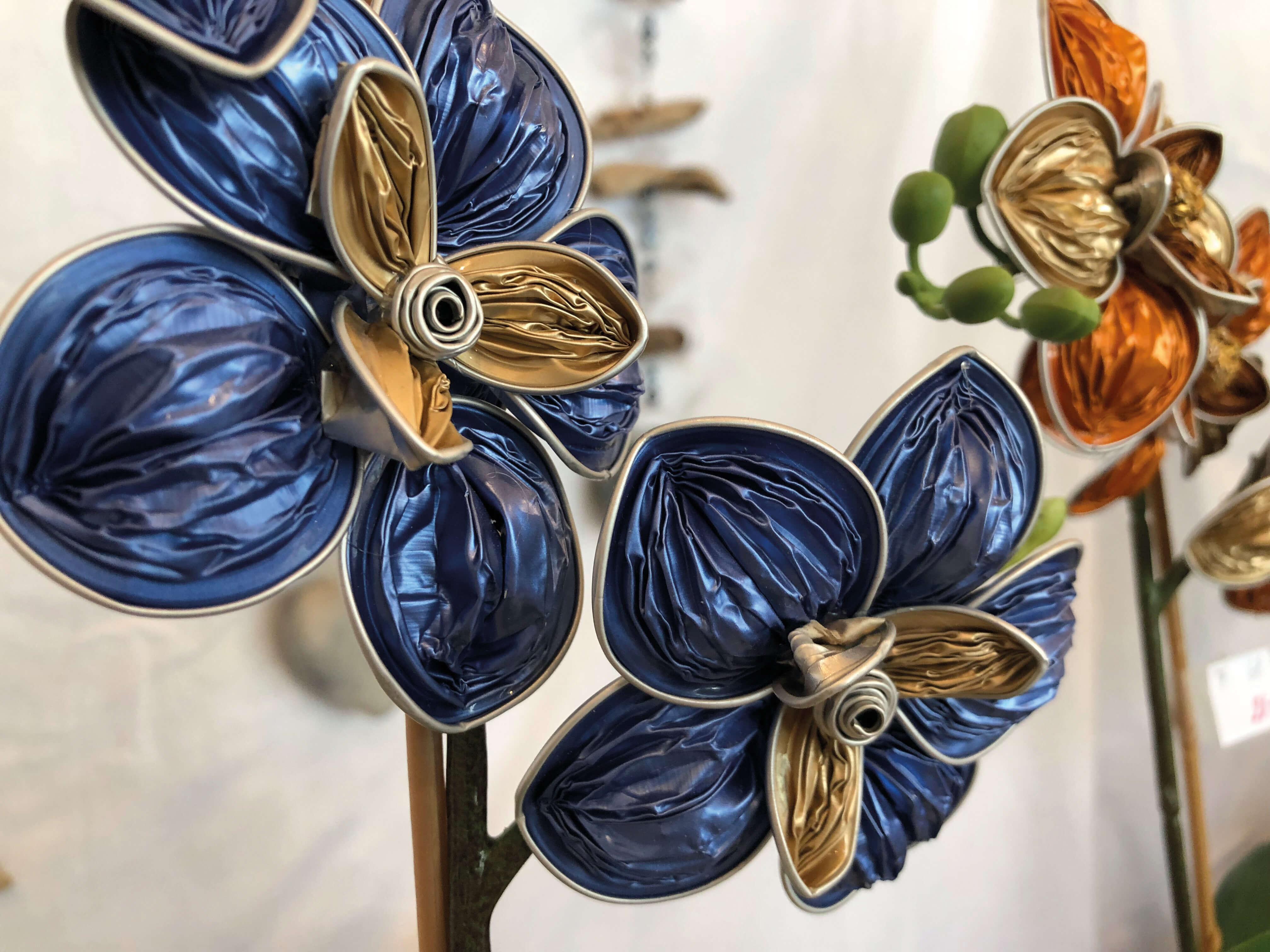 Originelle Blumen aus Kaffeekapseln