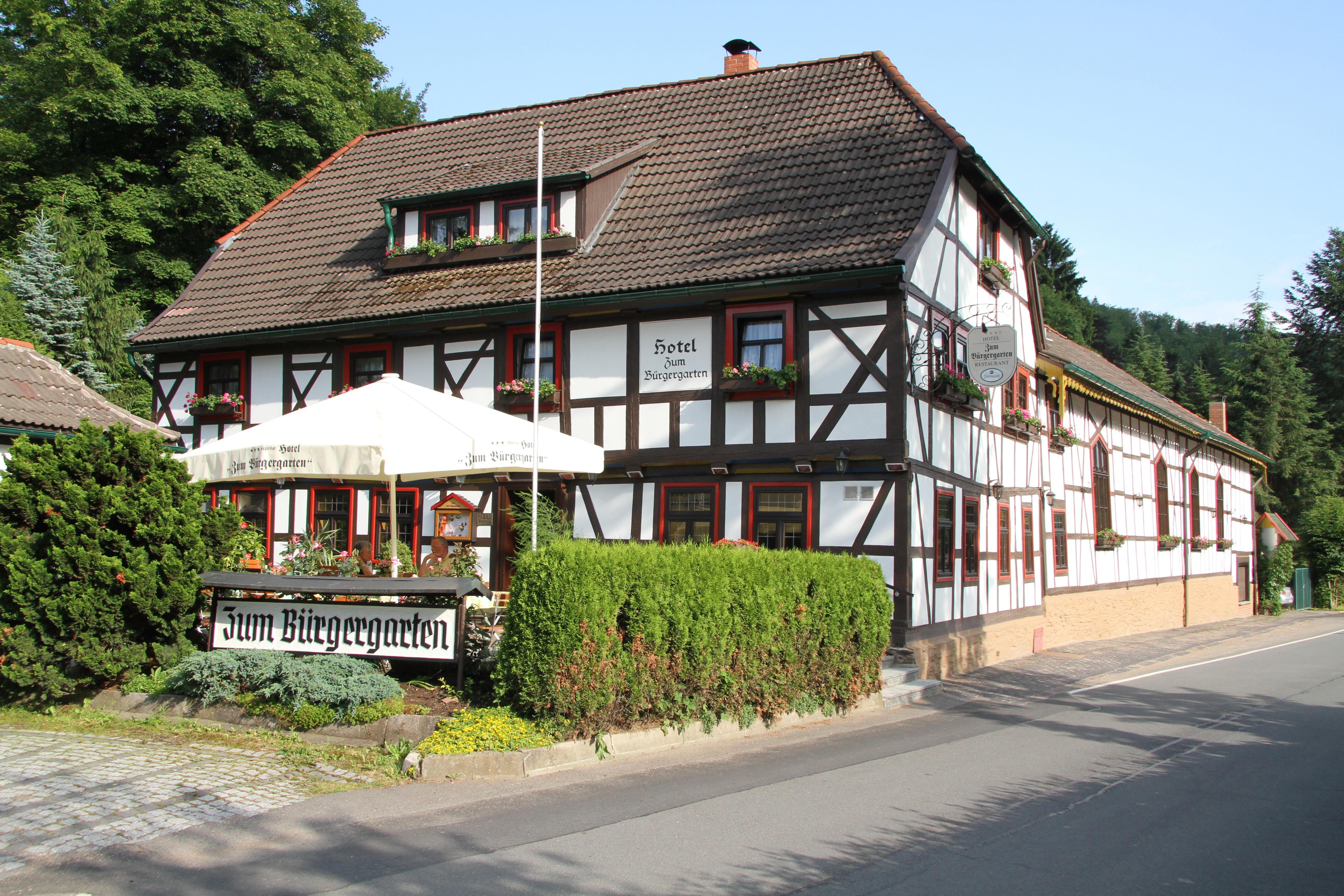 Hotel Zum Bürgergarten in Stolberg - Außenansicht