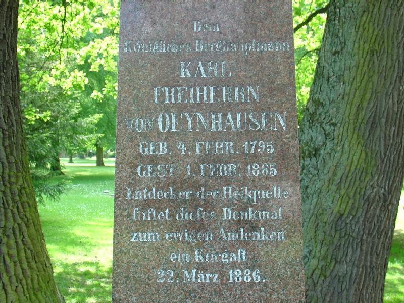 Gedenkstein des Freiherrn von Oeynhausen