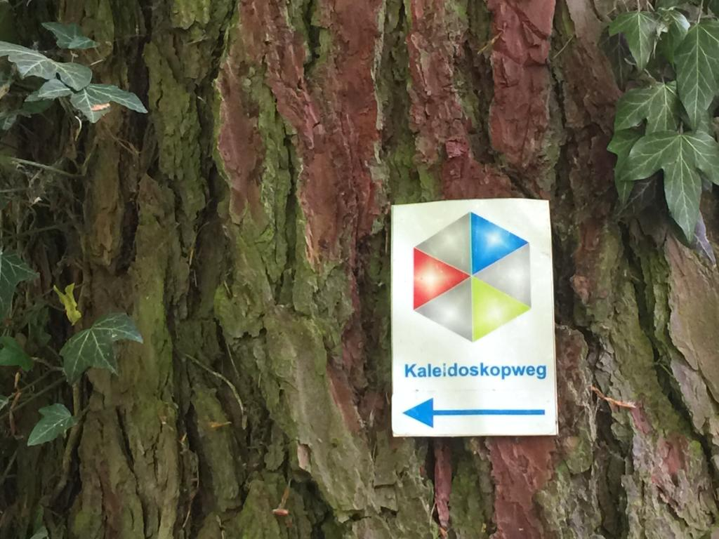 Markierungszeichen / Wegelog des Kaleidoskopwegs