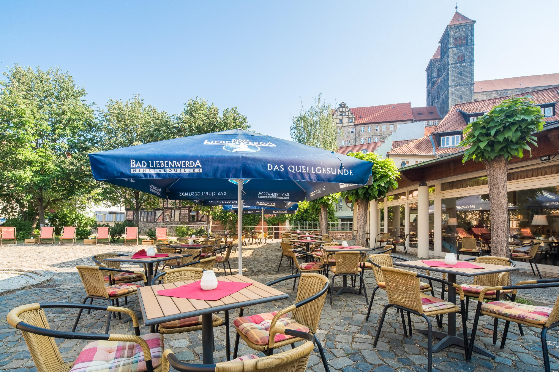 BEST WESTERN Hotel Schlossmühle in Quedlinburg - Terrasse