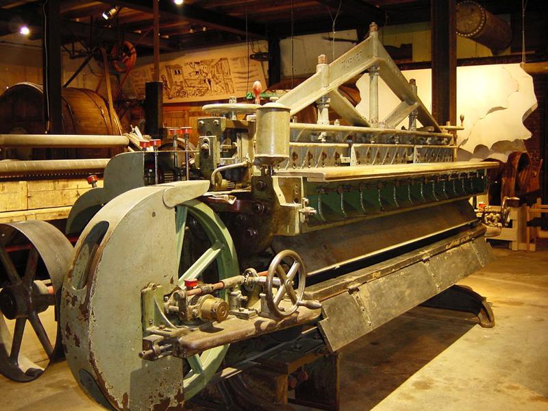 Spaltmaschine im Gerbereimuseum Enger