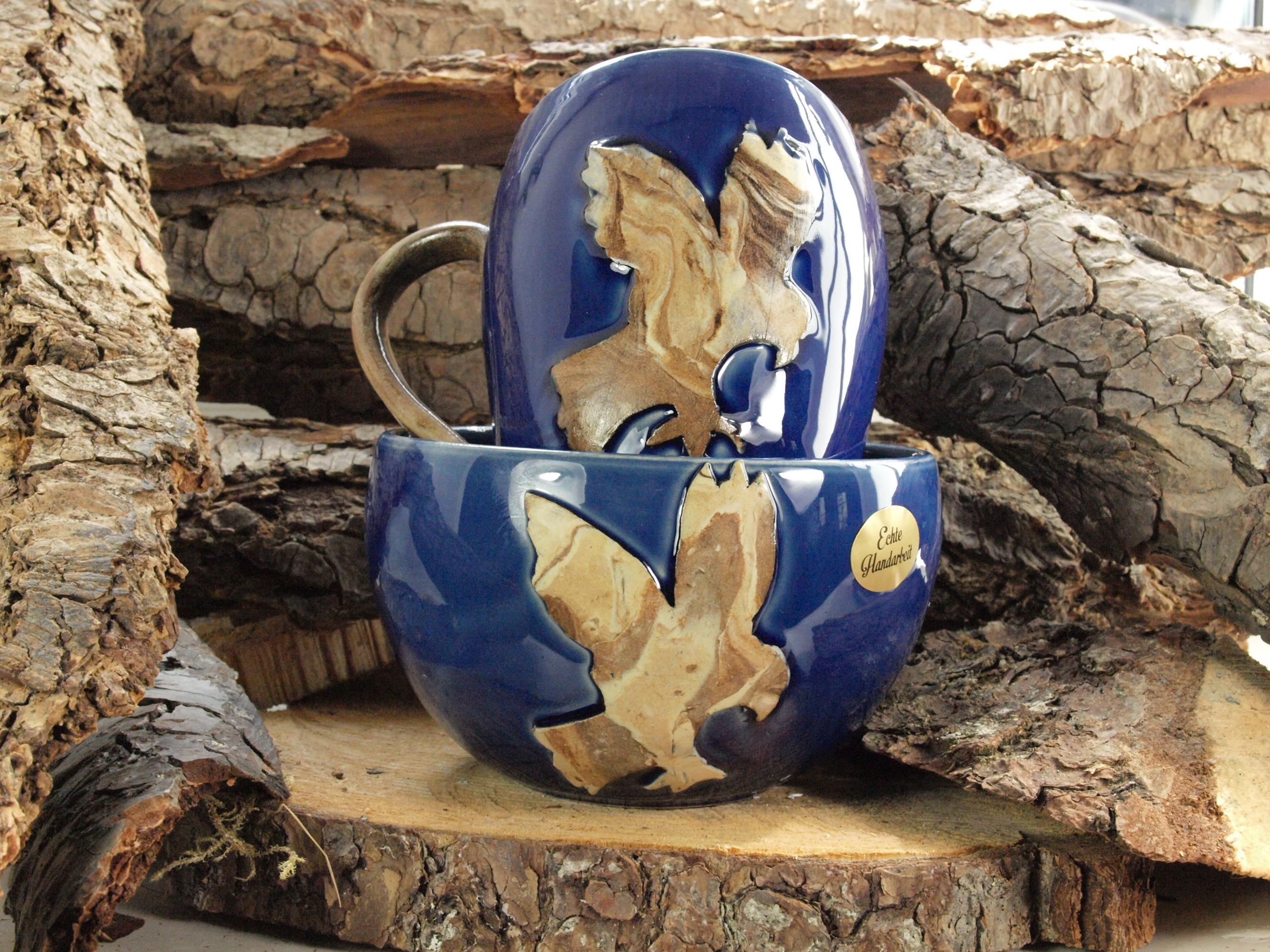Harz Keramik - Müslischale und Kaffeebecher