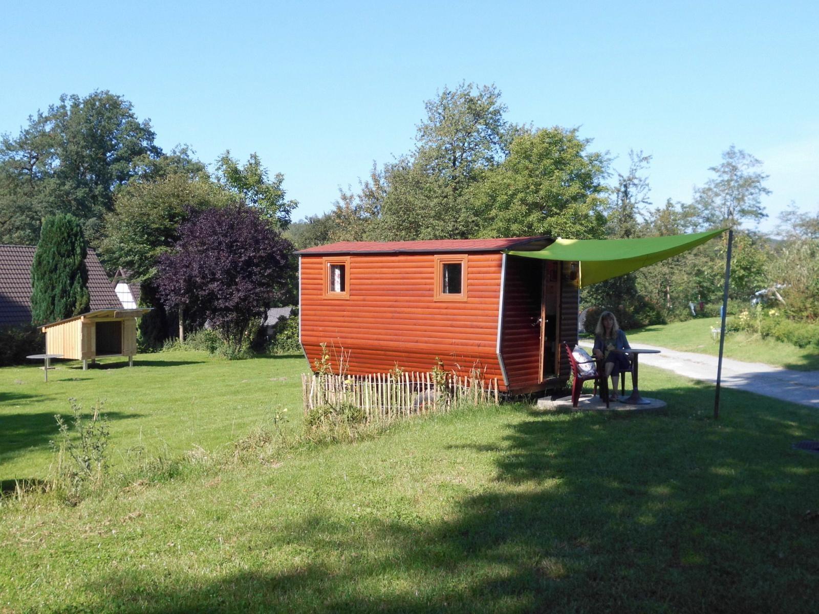 Kleine Blockhütte, Campingplatz Eurocamp im Holperdorper Tal