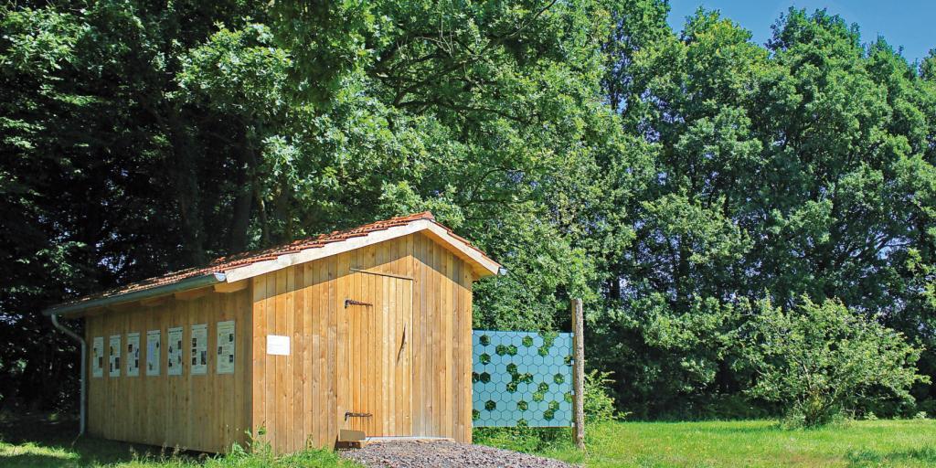 Bienenhaus, 2017 neu erbaut