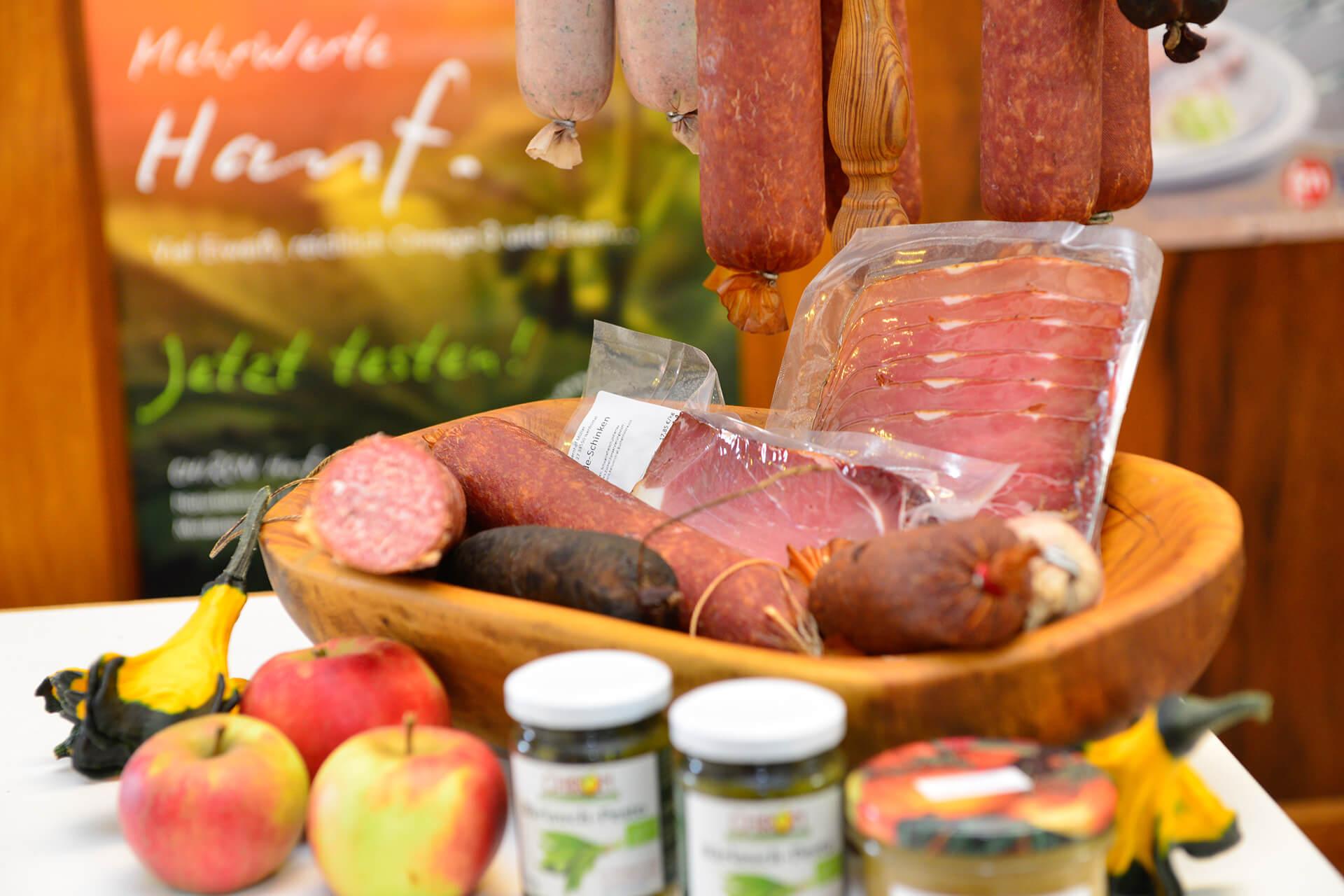 Fleischprodukte im Hofladen