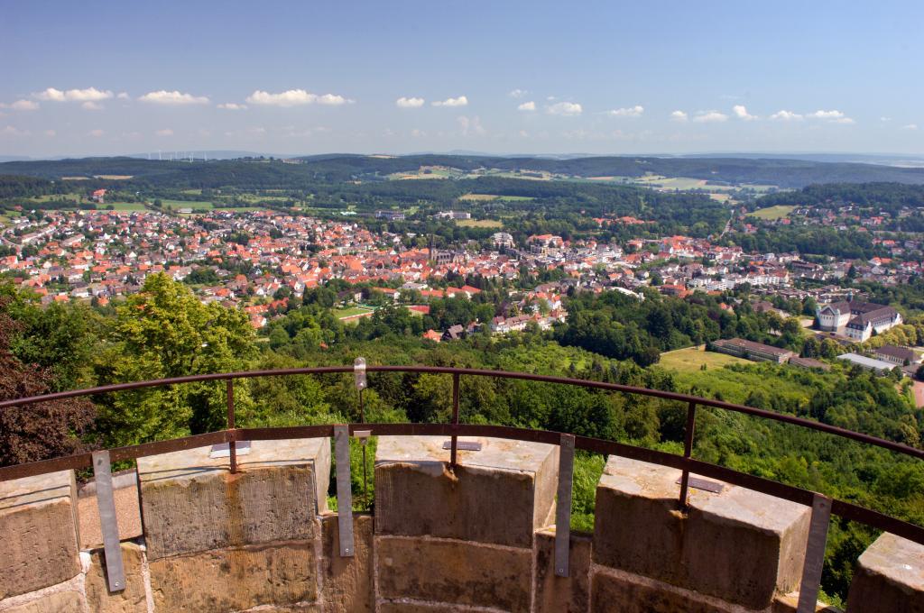 Blick auf Bad Driburg vom Kaiser-Karls-Turm