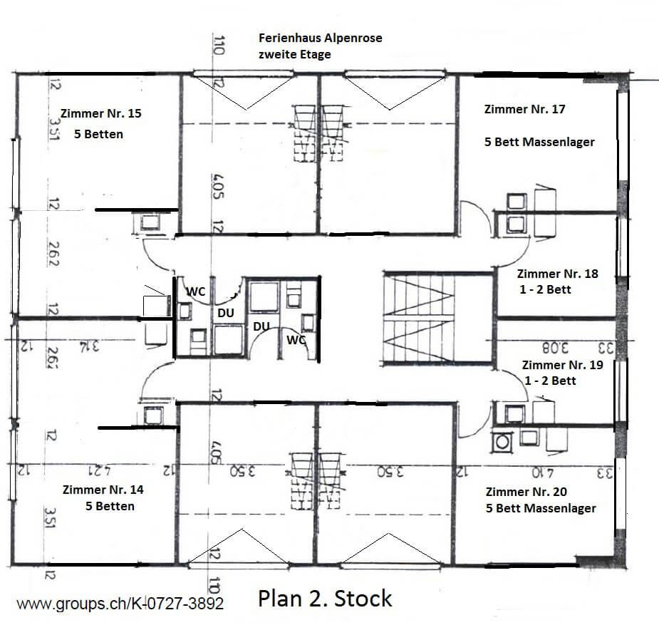 Zimmerplan 2. Etage