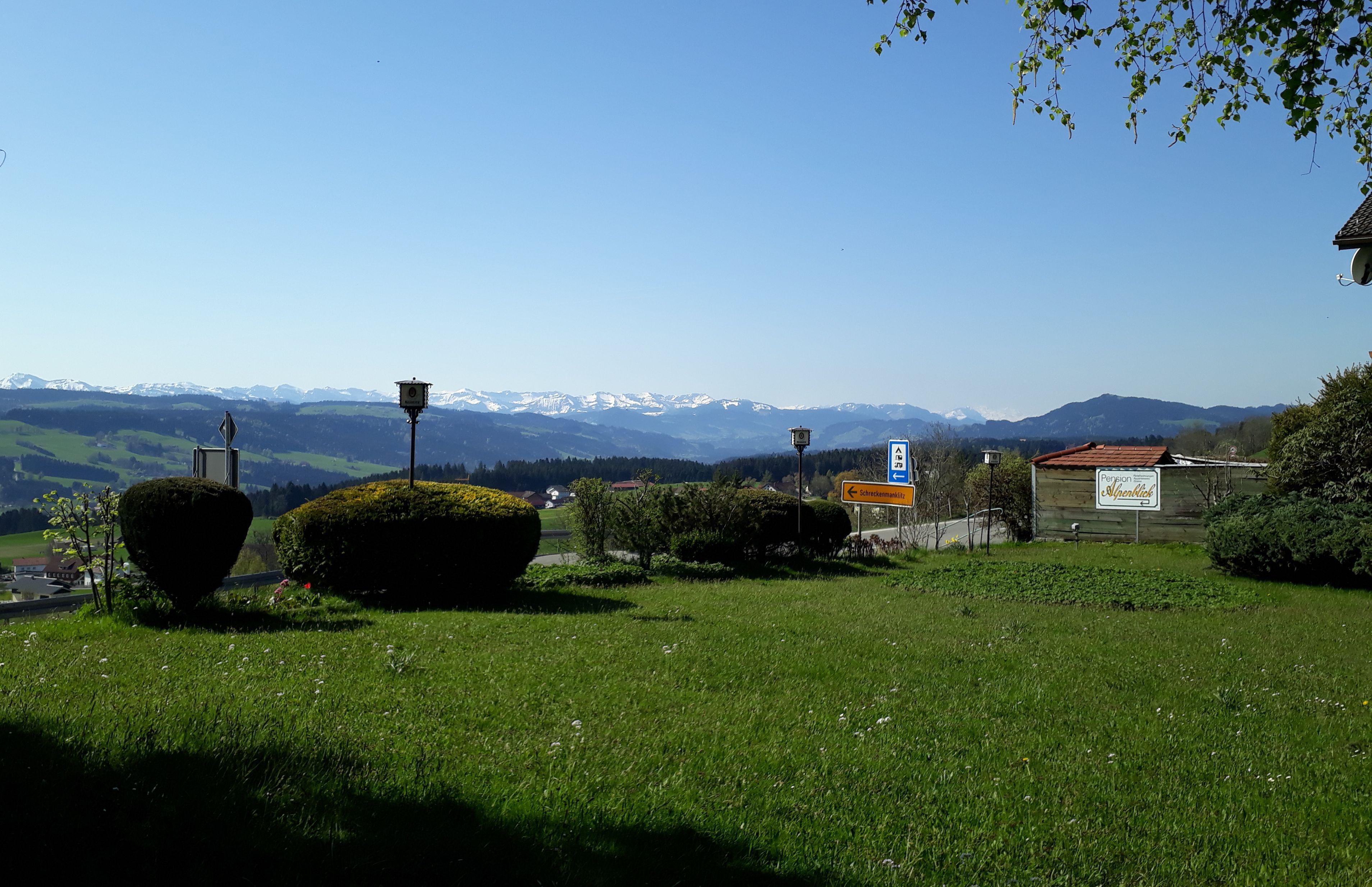 Alpenblick Pension-Gästehaus, Ausblick