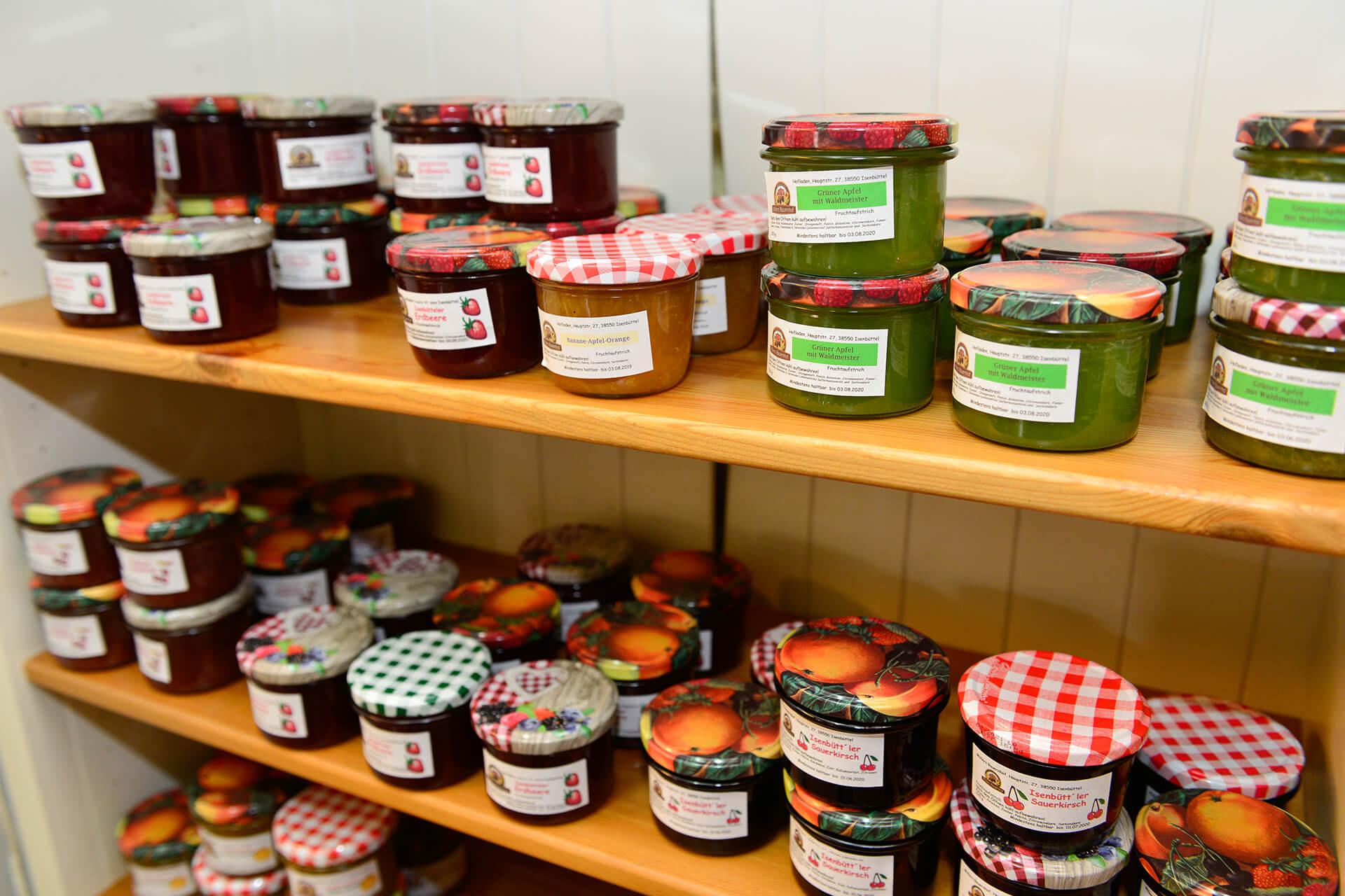 Marmelade im Hofladen