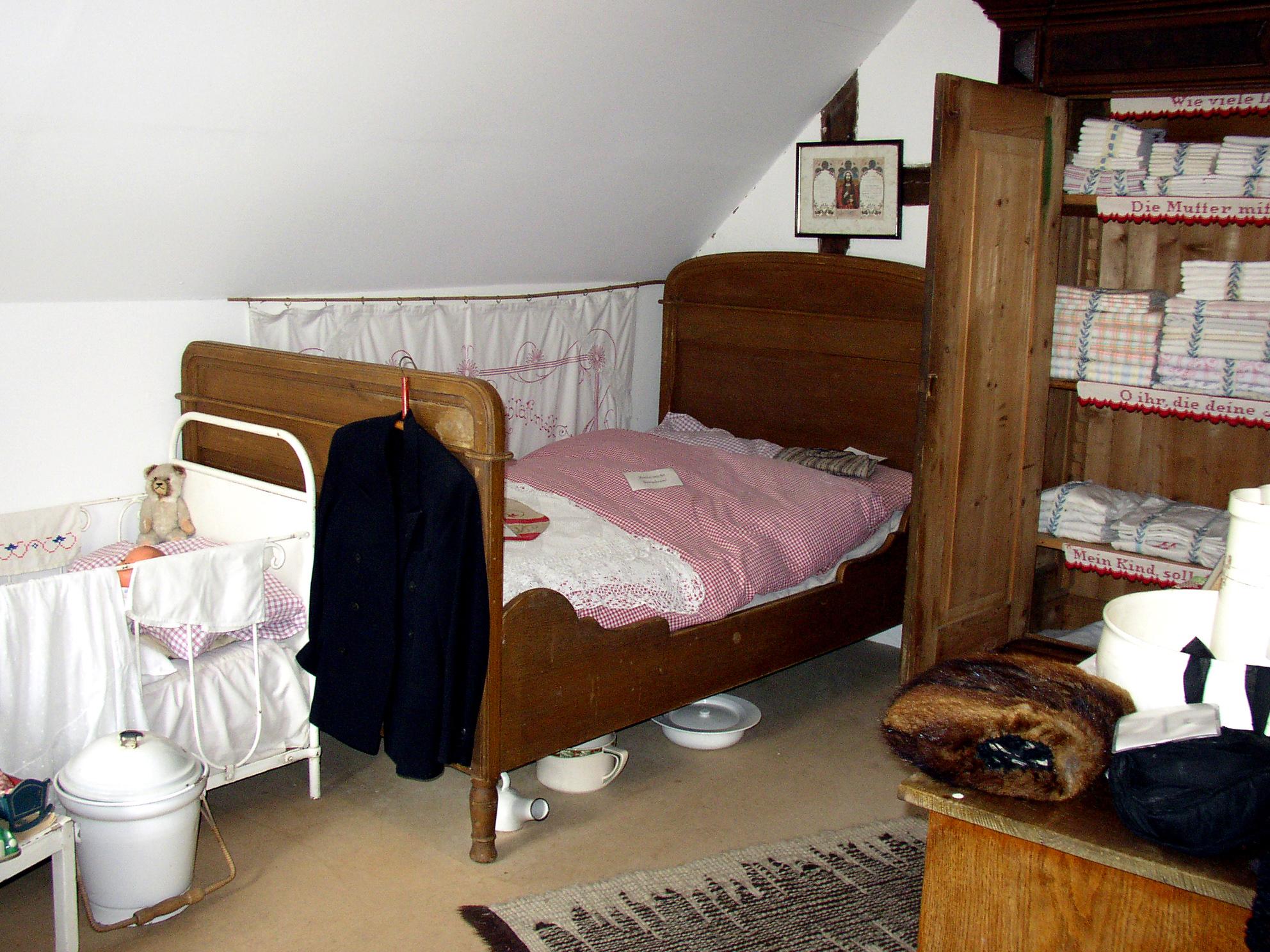 Schlafstube des Heimatmuseums Müden/Aller