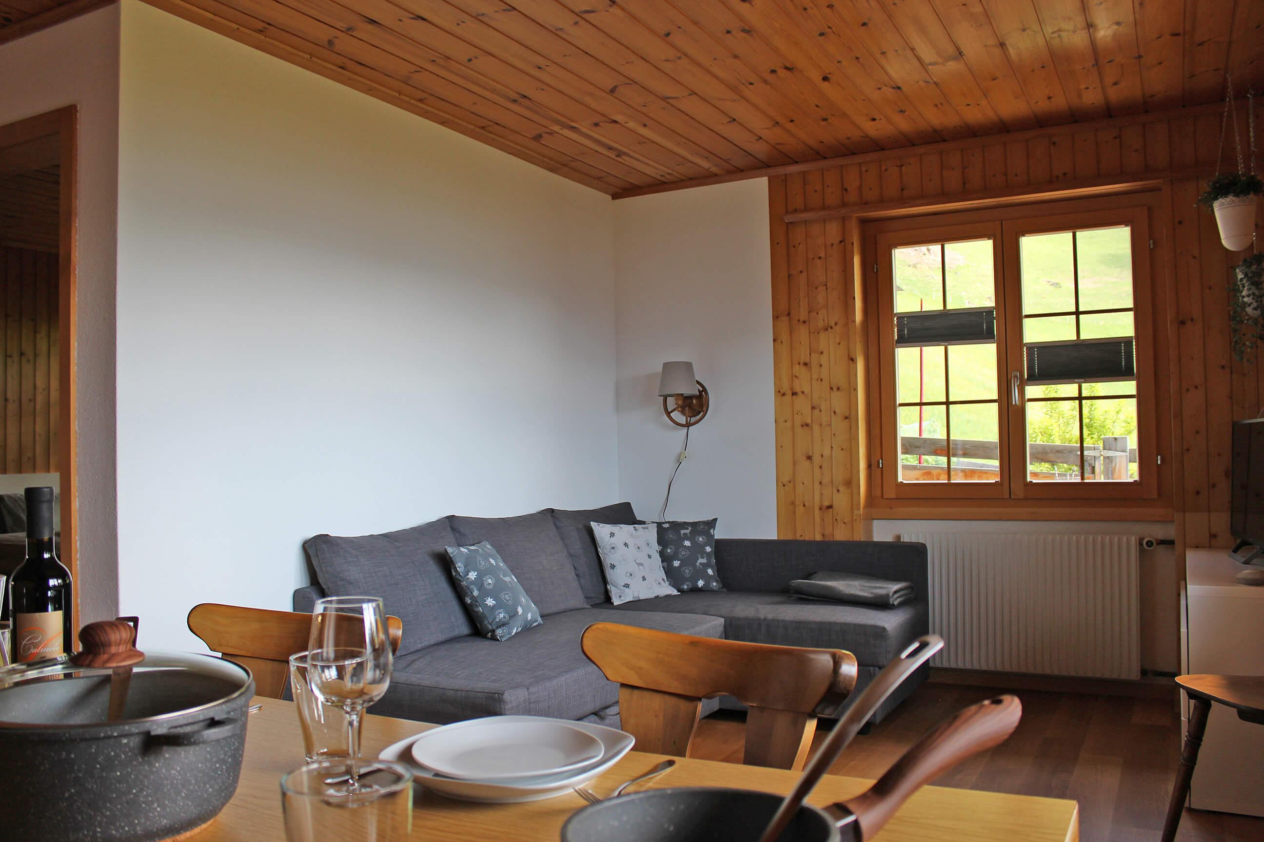 Esstisch mit Wohnzimmer