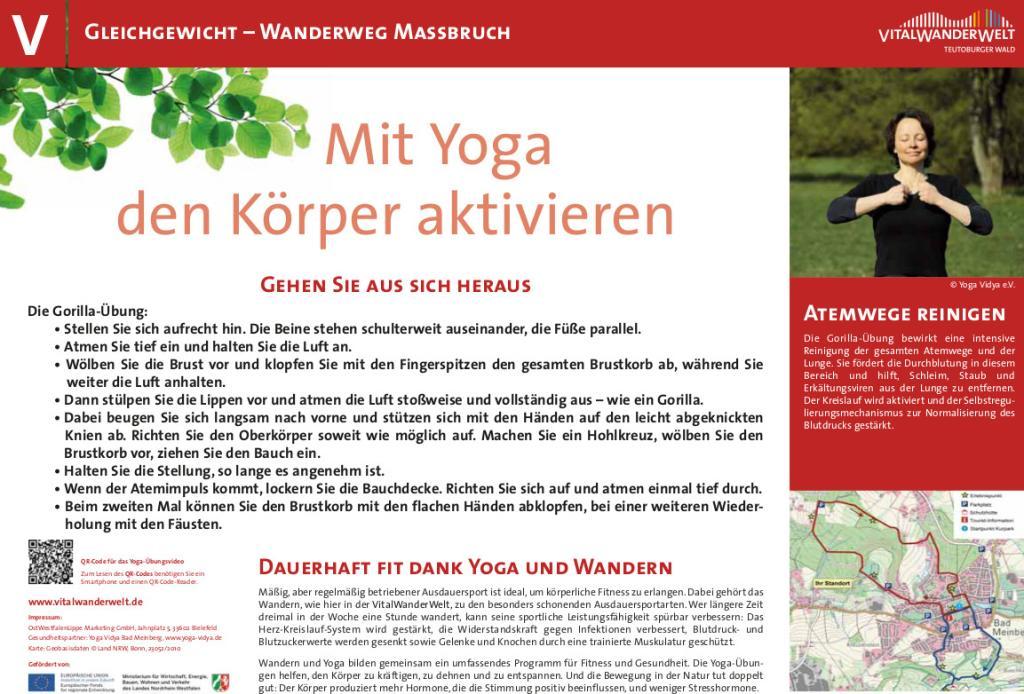VitalWanderWelt Wanderweg Maßbruch - Mit Yoga den Körper aktivieren
