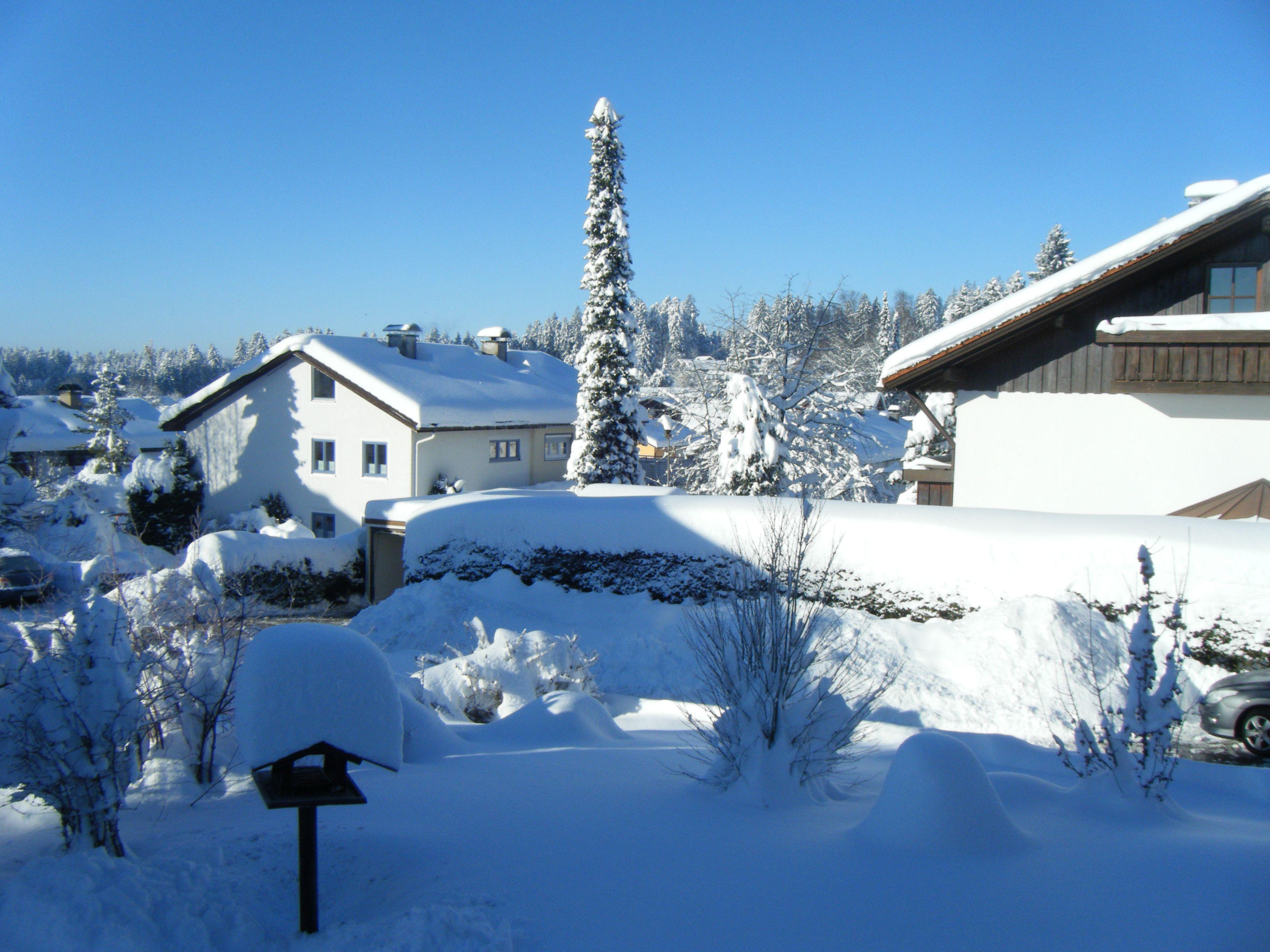 Ferienwohnung Hoffmann, Blick aus dem Fenster