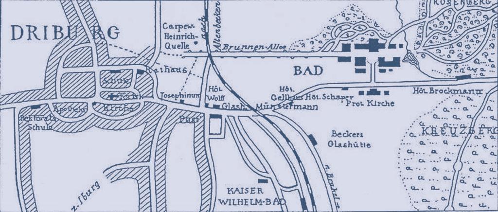 Stadtplan Bad Driburg von 1898