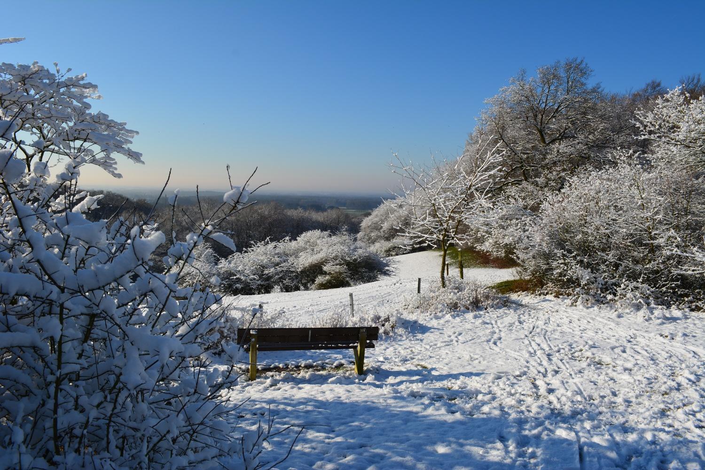 Aussicht in die Münsterländer Ebene - Winteransicht