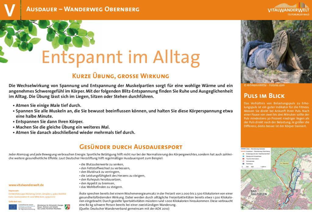 VitalWanderWelt Wanderweg Obernberg - Entspannt im Alltag