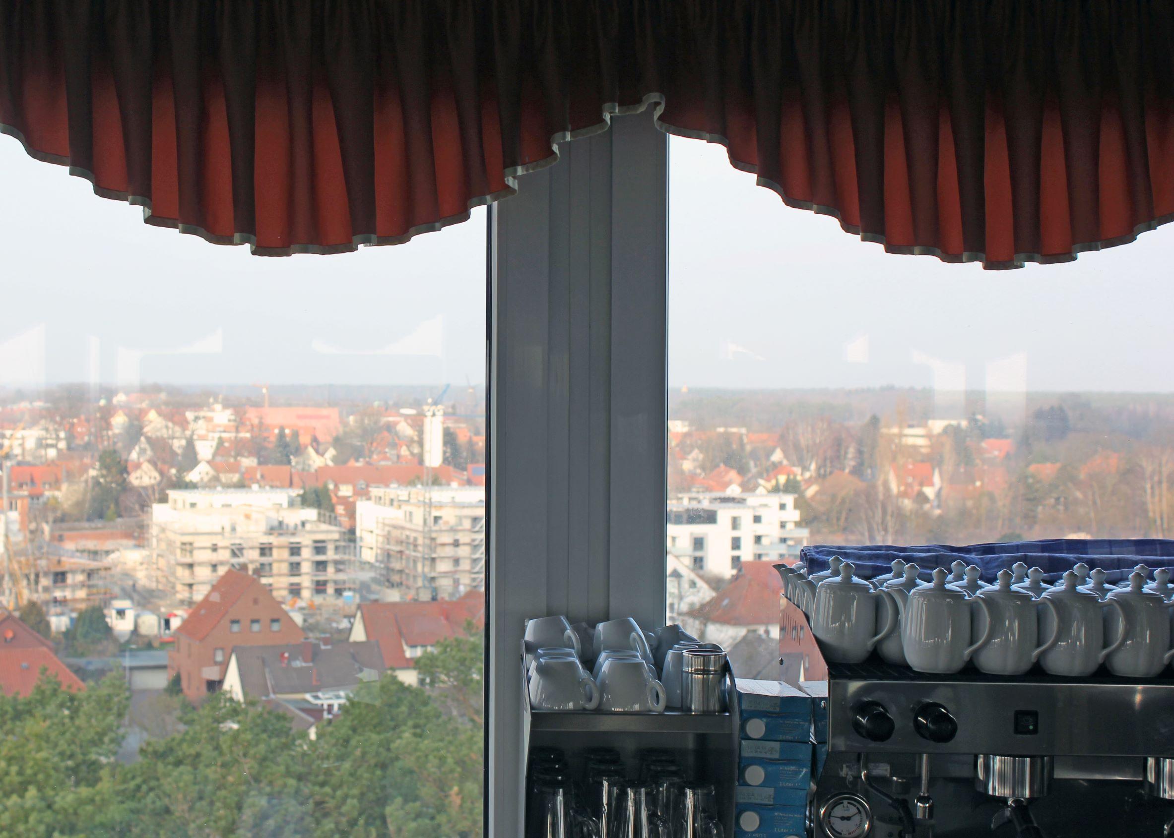 Blick aus dem Fenster des Cafés