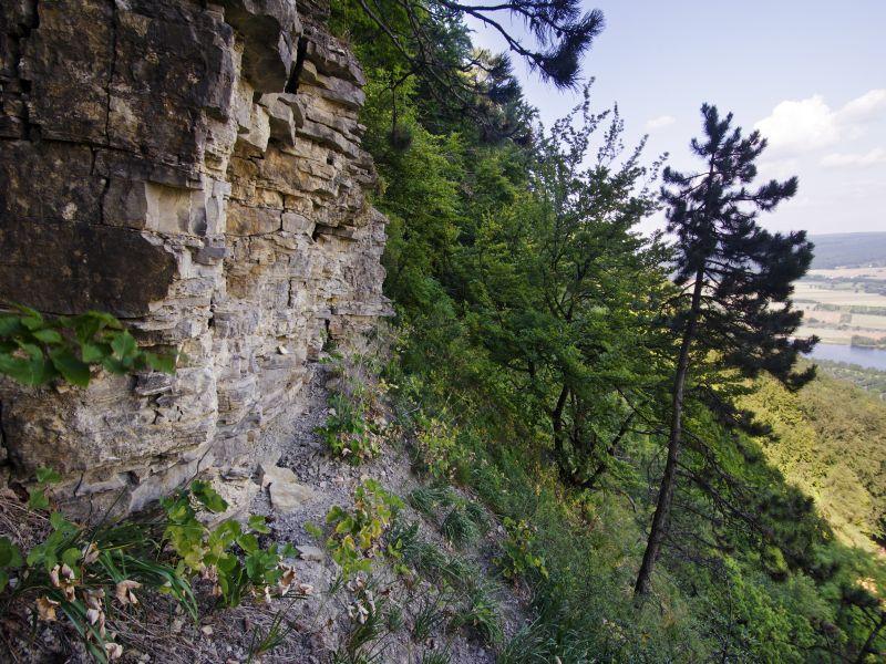 Die Felszinnen der Rabenklippen bei Höxter