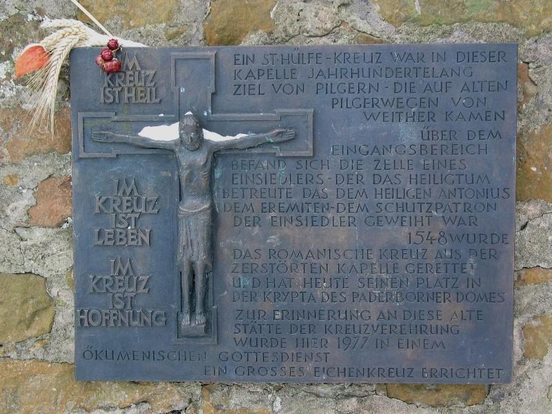 Tönsbergkapelle Tafel