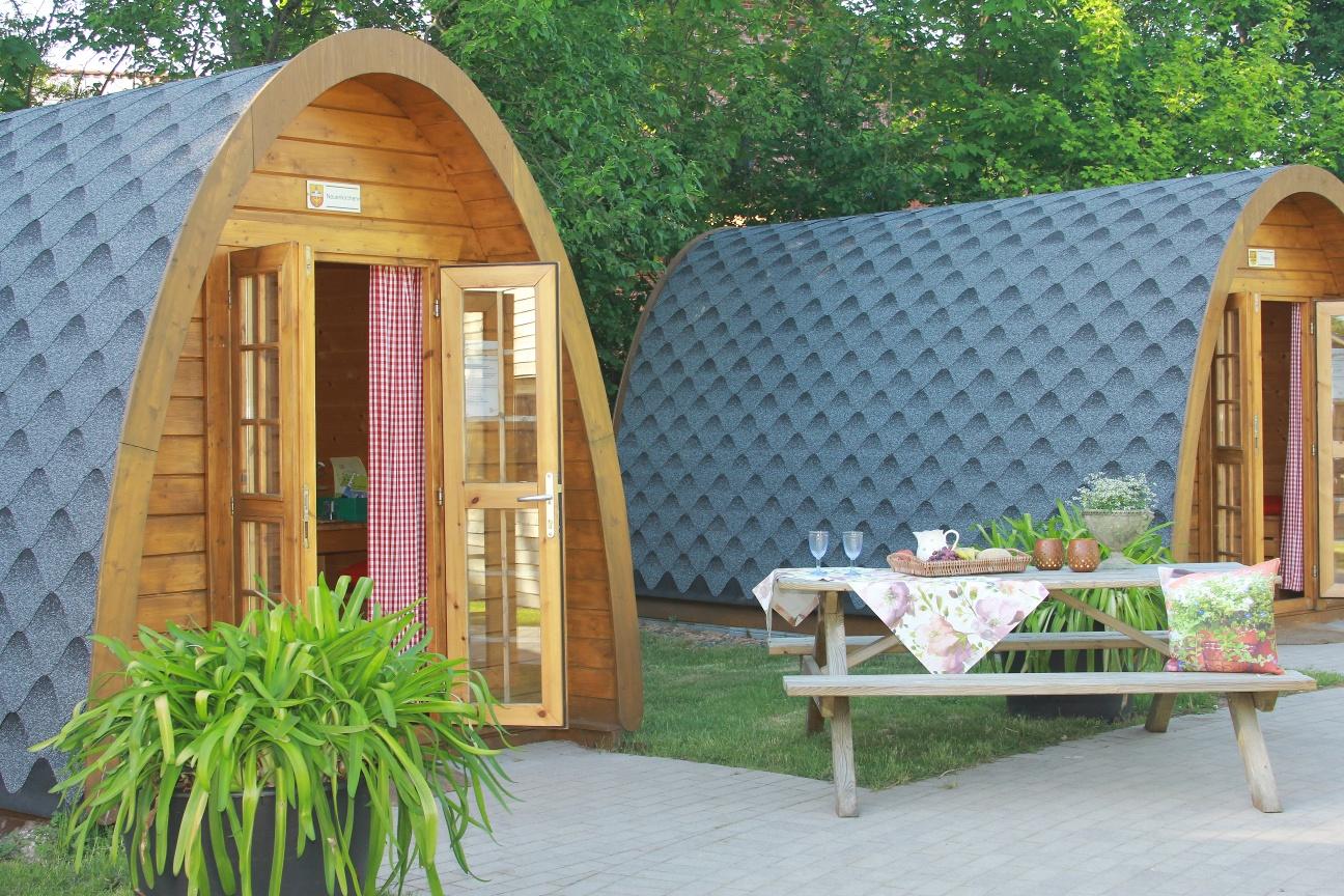 Camping Pods im Gartenschaupark Rietberg (für je 4 Personen)