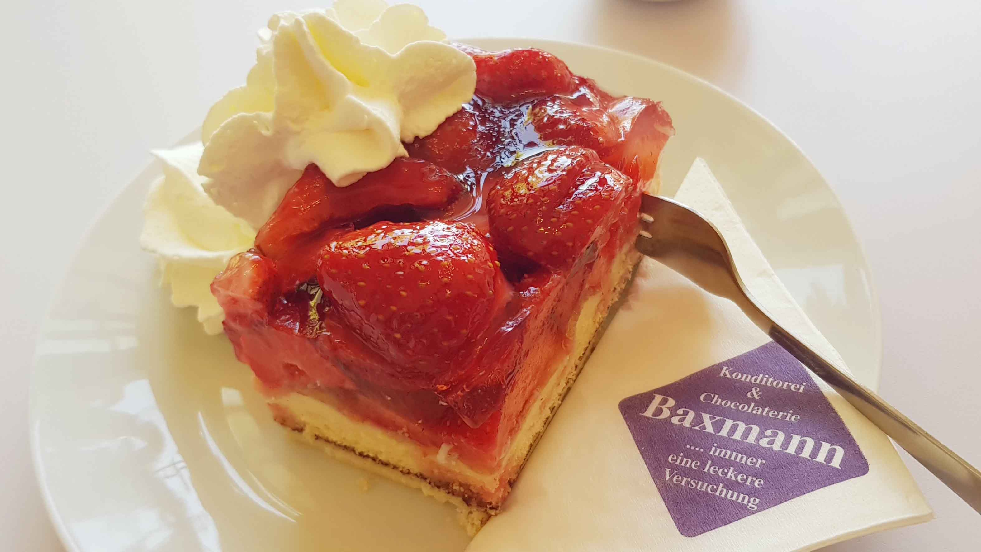 Café Baxmann Celle, Erdbeerkuchen