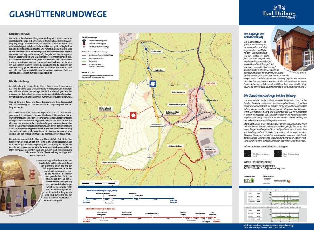Informationstafel Glashüttenrundwanderwege