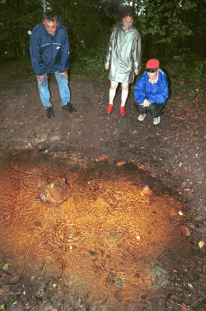 Die Quelle des Zechenbaches entstand erst durch den Bergbaubetrieb, der die Grundwasserströme stark veränderte
