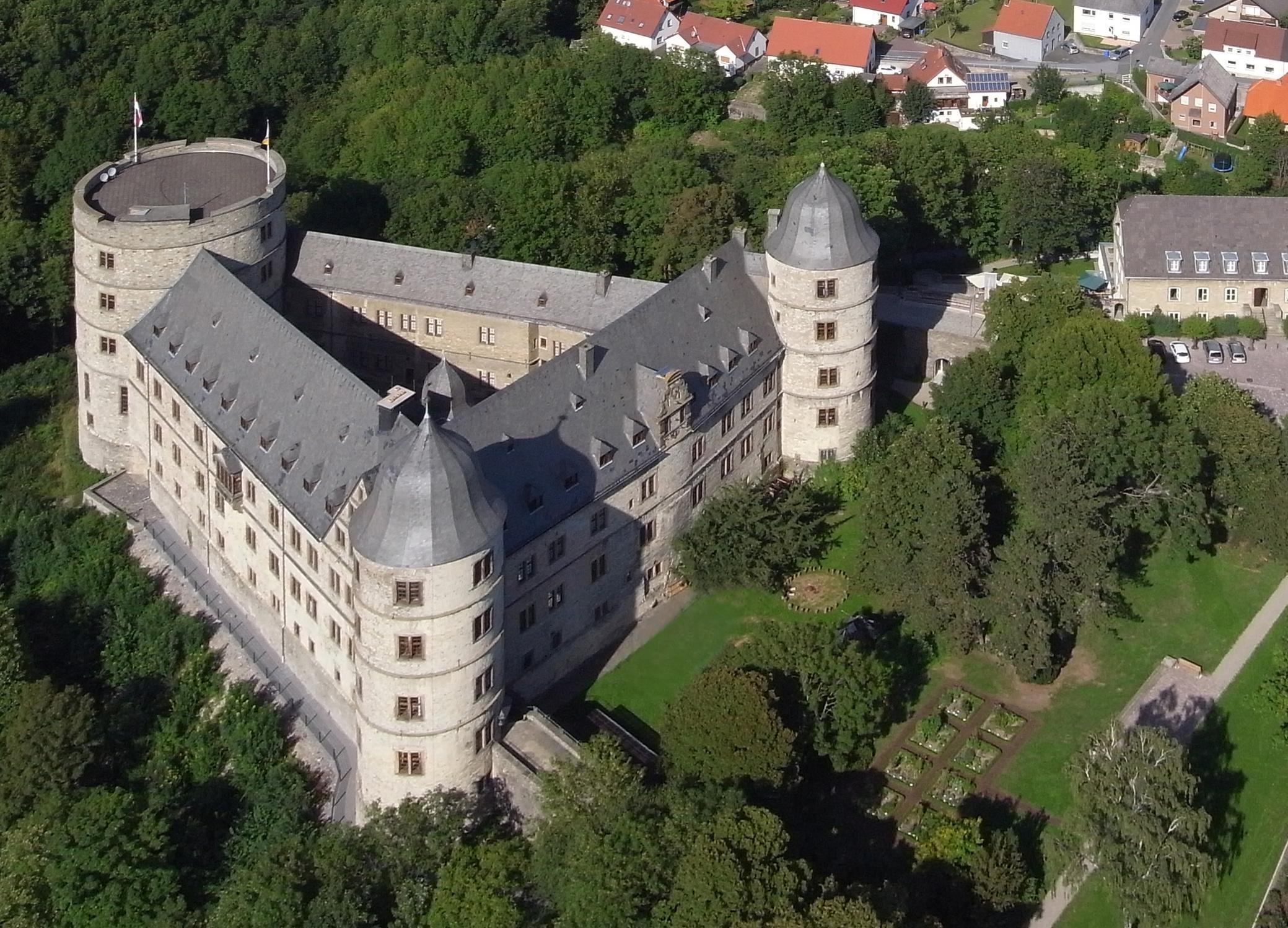Luftbild der Wewelsburg