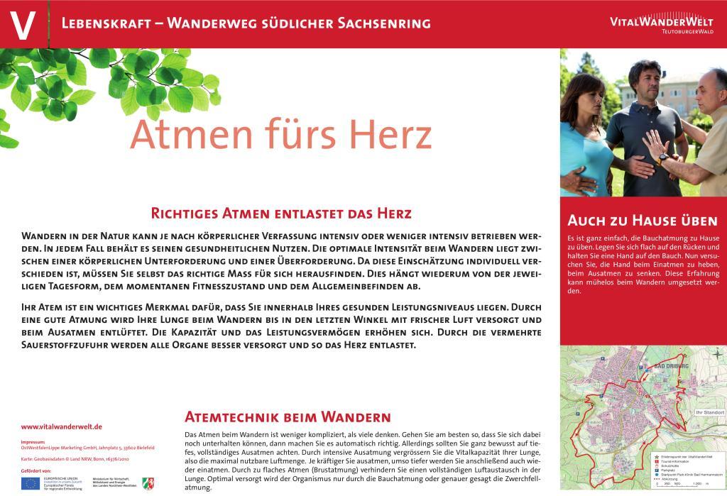 VitalWanderWelt Wanderweg südlicher Sachsenring - Atmen fürs Herz