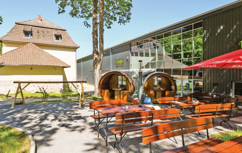 NOVASOL - Ferienhausdorf Thale - Außenbereich mit Terrasse