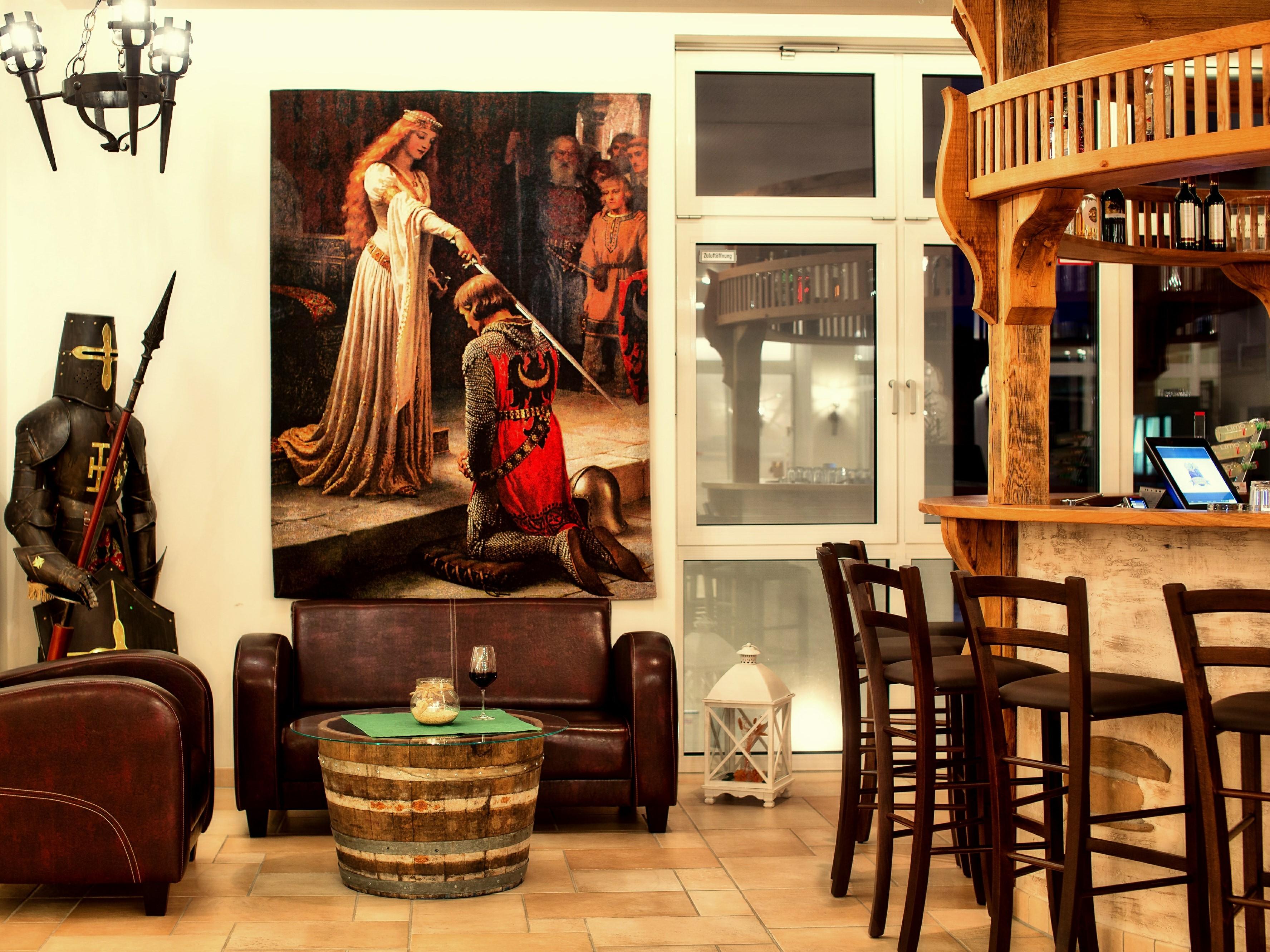 Hasseröder Burghotel in Wernigerode - Bar - Sitzecke - Lounge