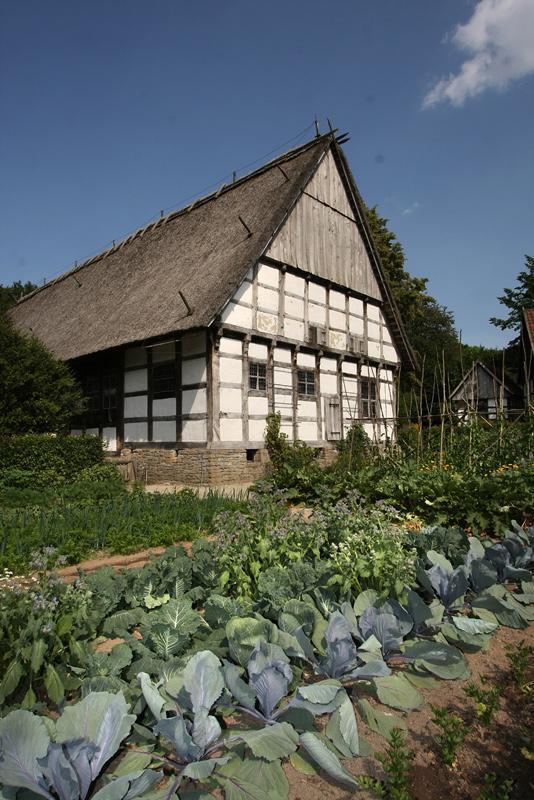 Gemüsegarten im Freilichtmuseum