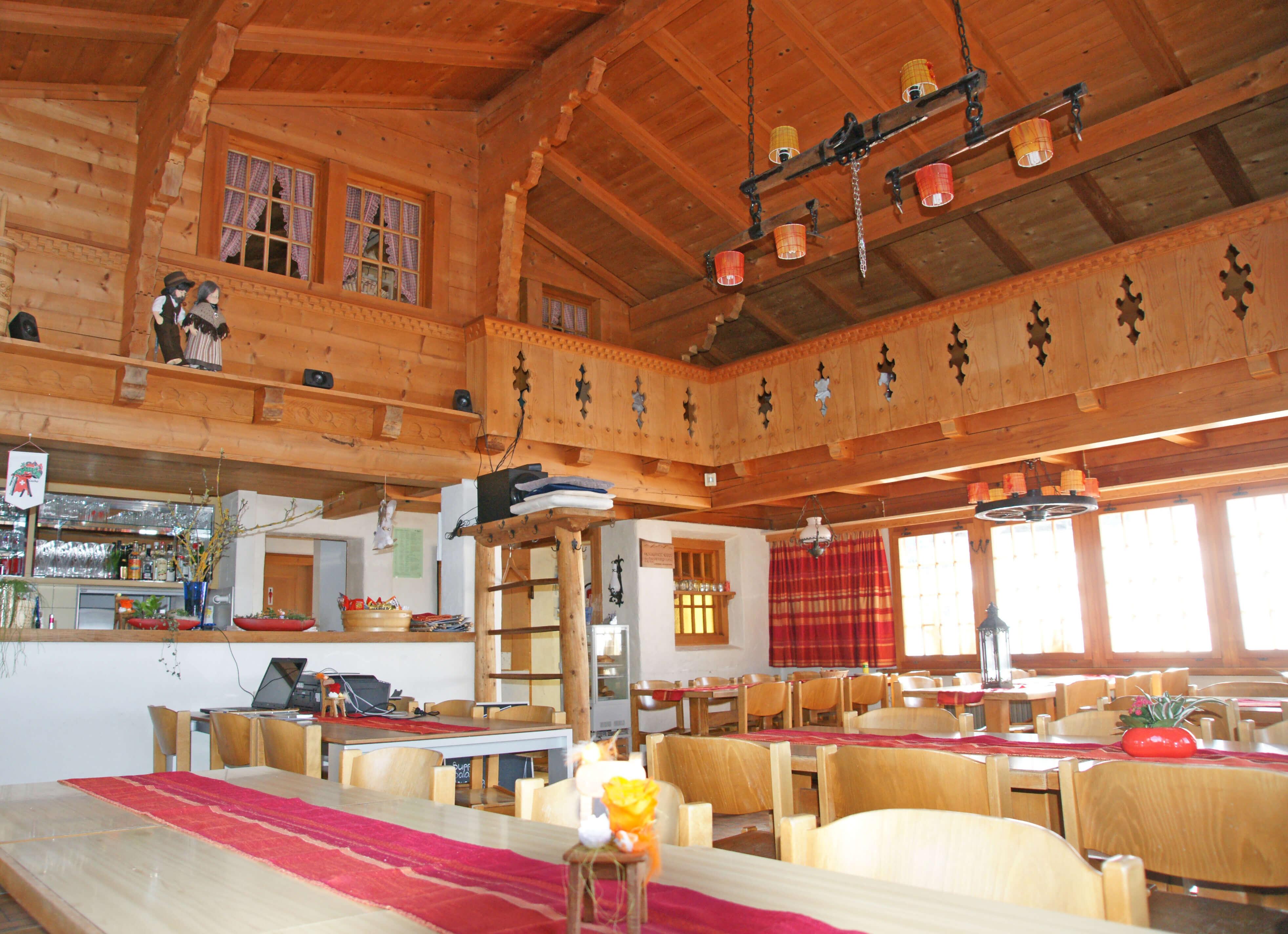 Die heimelige Gaststube im Restaurant Eggli