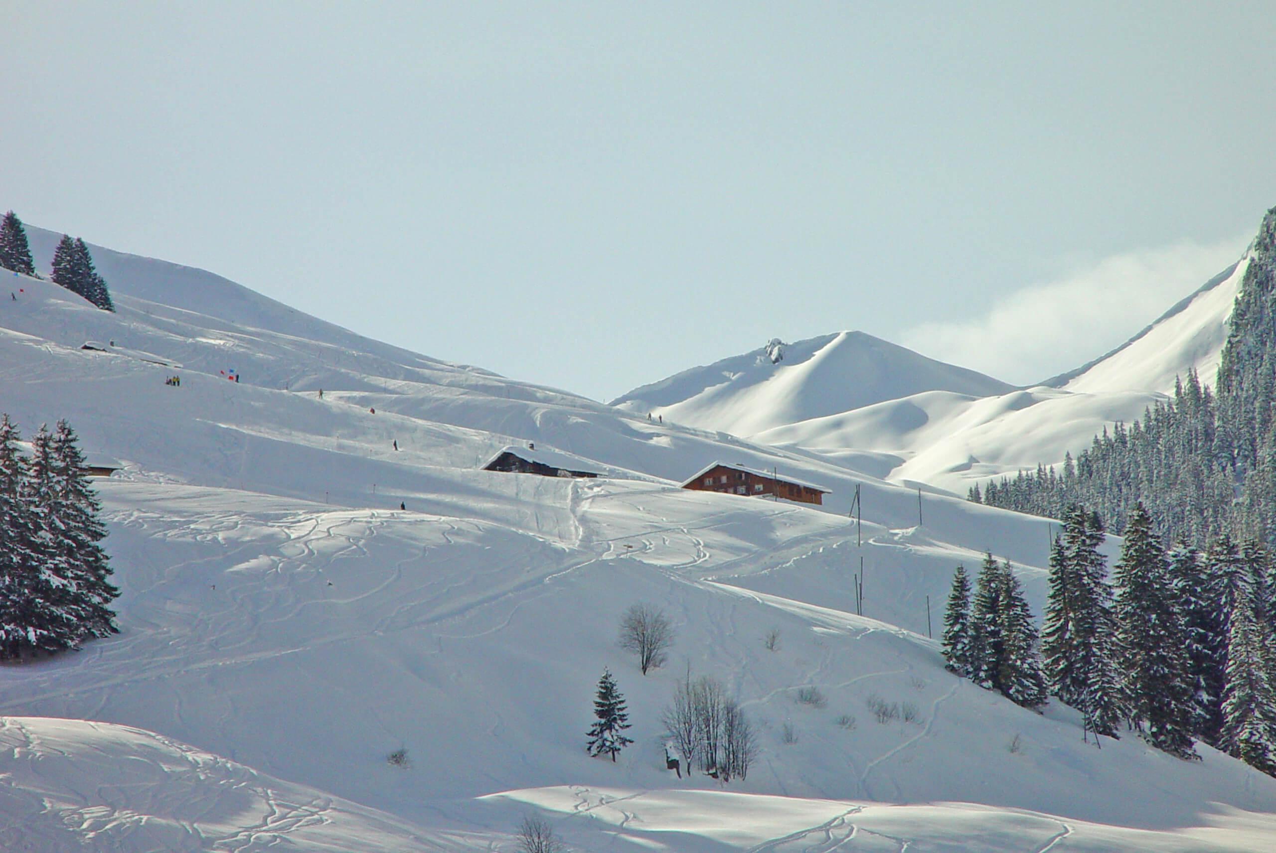 Winter Aussenansicht Skipiste