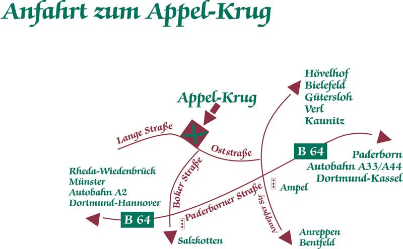 Anfahrtskizze Hotel Appel-Krug