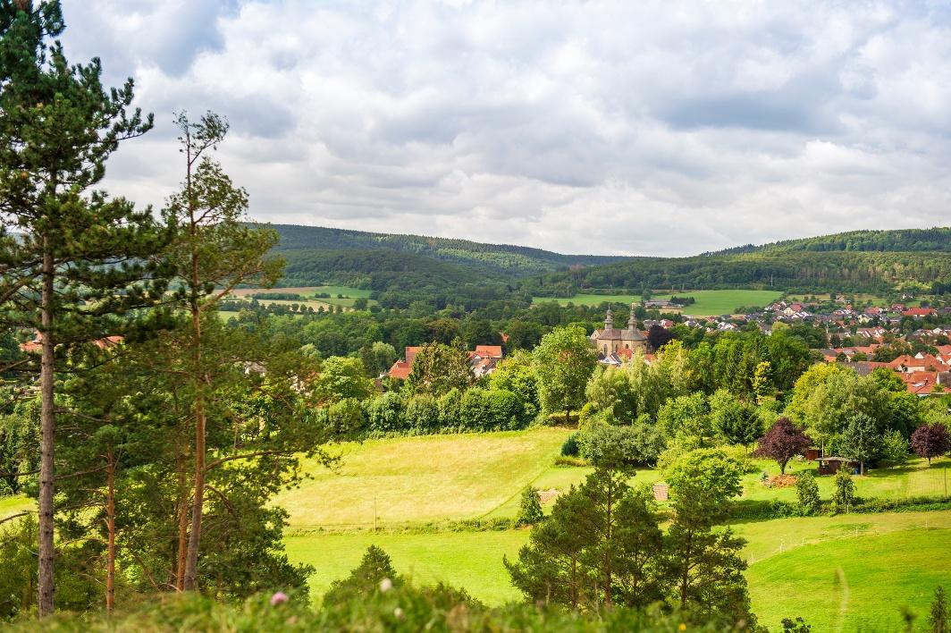 Blick aufs Schloss Willebadessen