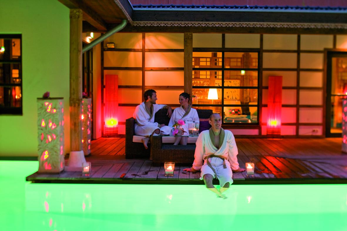 Sauna Atrium in der Bali Therme