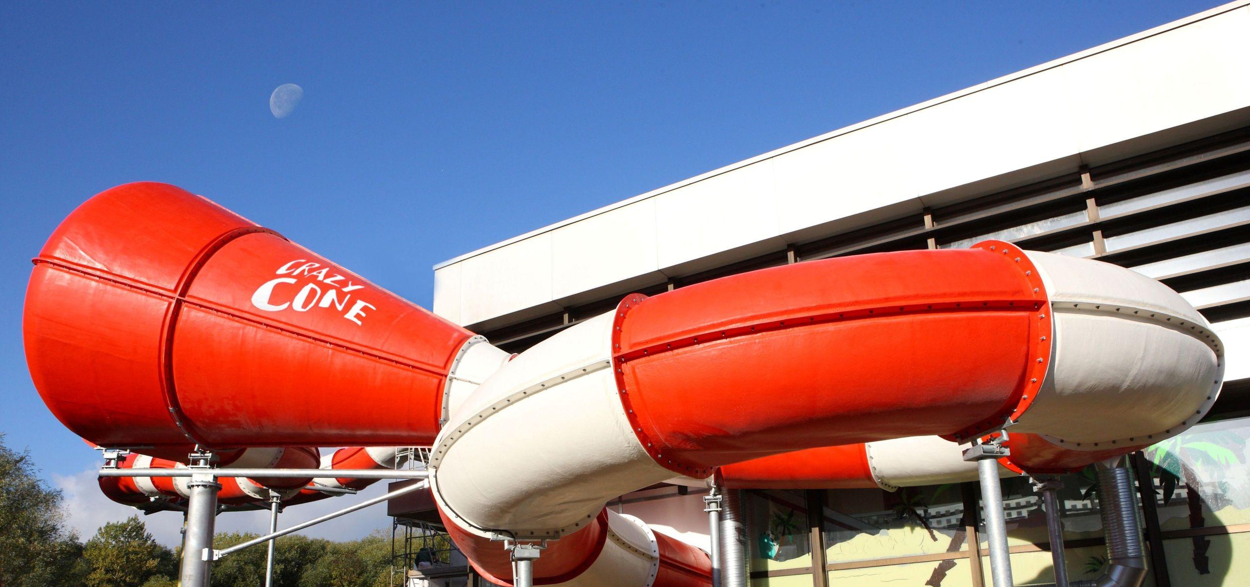 Crazy Cone Wasserrutsche in der Sehusa-Wasserwelt