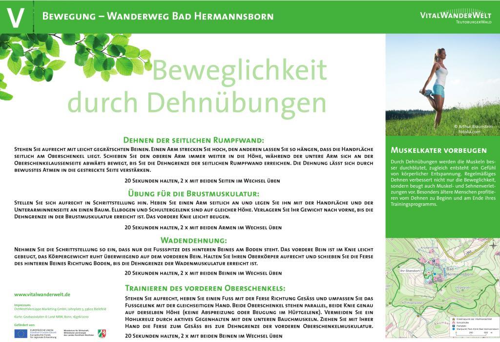 VitalWanderWelt Wanderweg Bad Hermannsborn - Beweglichkeit durch Dehnübungen